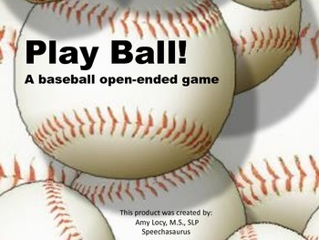 Play Ball! A baseball open ended game