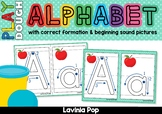 Alphabet Play Dough Mats - with Correct Letter Formation a