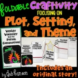 Plot, Setting, Theme Foldable Craftivity (with differentia