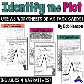 Plot Task Cards or Worksheets - Identify Plot Elements in Short Stories