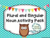 Plural and Singular Noun Activity Pack