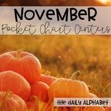 Pocket Chart Activities & Printables November