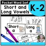 Pocket Sort short/long vowel sounds