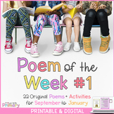 Poem of the Week - 20 poems for September to January