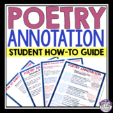 POETRY ANNOTATION: A How-To Guide For Students (Presentati
