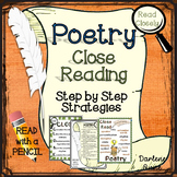 Poetry: Close Reading Step by Step Strategies