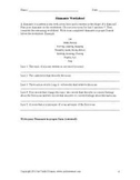 Poetry Forms - Worksheet
