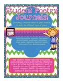 Poetry Journals for Students! Directions and Examples for