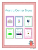 Poetry Library Center Signs