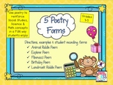 Poetry Forms or Poetry Expansion Pack ~ in Print & Go Format