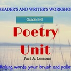 Poetry Unit (Part 1 of 2) for Poetry Month: Lesson by Less