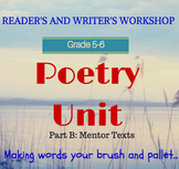 Poetry Unit  (Part 2 of 2) for Poetry Month: Lesson by Les