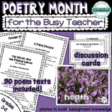 Poetry Month for the Busy Teacher {30 poems included!}