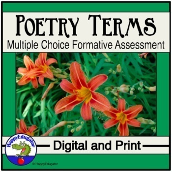 Poetry Multiple Choice Formative Assessment