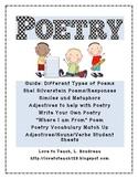 Poetry Printables Unit