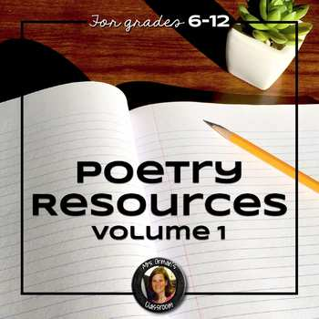 Poetry Resources Bundle for Writing, Reading, & Understanding Poetry