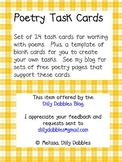 Poetry Task Cards Pack
