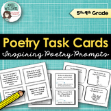 Poetry Task Cards - Poetry Prompts & Figurative Language Review