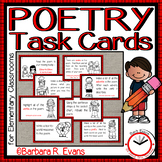 Poetry Task Cards for Elementary Classrooms