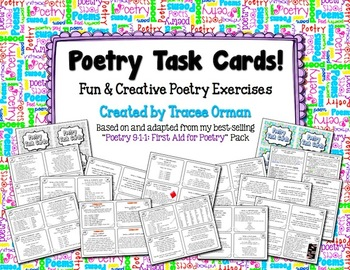 Poetry Task Cards to Practice Common Core Writing & Language Skills