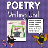 Poetry Writing Unit & Genre Book Report Mini-Unit Grades 3 - 6
