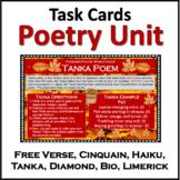 Poetry Writing Unit: Haiku, Tanka, Cinquain, Free Verse, Biopoem