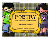 Poetry for National Poetry Month (or whenever)