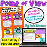 Point of View Craftivity: Zooming in on 1st Person & 3rd P