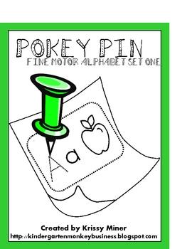 Pokey Pin Alphabet Literacy Centers To Go For Kindergarten