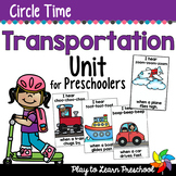 Transportation - Centers and Circle Time Preschool Unit