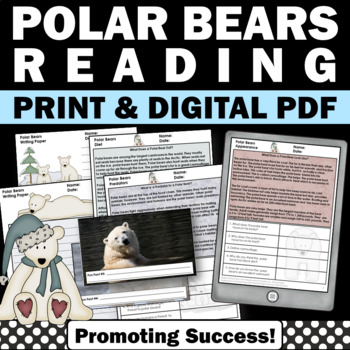 Winter Activities Polar Bears Reading Comprehension Passag