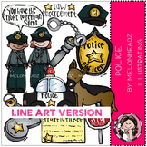 Police LINE ART bundle by melonheadz