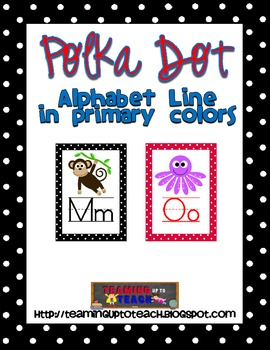 Polka Dot Alphabet Line in Primary Colors