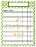 Polka Dot Class List - Green