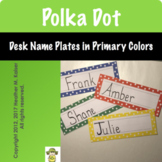 Polka Dot Desk Name Plates - Primary Colors