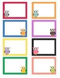 Polka Dot Owl Labels - Blank