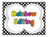 Polka Dot Pirate Rainbow Editing Posters