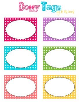 Polka Dot Tags or Labels - Free Printable