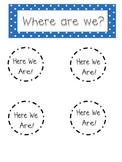 Polka Dot Where Are We? Door Sign