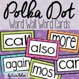 Polka Dot Word Wall Words - Editable