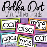 Polka Dot Word Wall Words - Editable