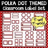 Polka Dot and Owls Classroom Label Set