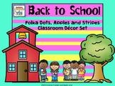 Polka Dots and Stripes Mega Classroom Organization KIt