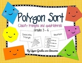 Polygon Sort Game - Classify Triangles and Quadrilaterals