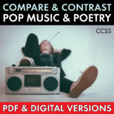 Pop Music Song Lyrics and Classic Poetry, Compare & Contra