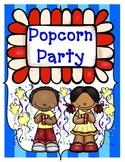 Popcorn Party Language Arts and Math Activities