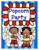 Popcorn Party Language Arts and Math Activities