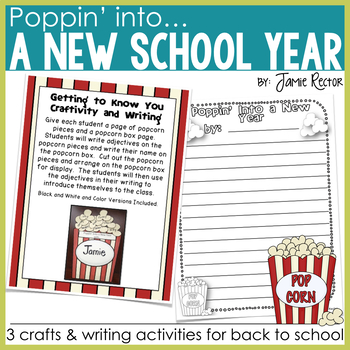 Poppin' Into a New Year - 3 Back to School Writing Craftivities