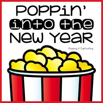 Poppin' Into the New Year Bulletin Board Craftivity
