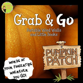 Portable Word Wall and Little Books: Pumpkins